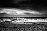 Tai chi on Bournemouth Beach, Dorset, England - August 2020