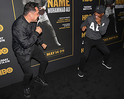 May 8, 2019 - Los Angeles, California, USA - 08, May 2019 - Pasadena, California. Oscar de la Hoya and Sugar Ray Leonard attends 'What's My Name | Muhammad Ali' HBO Documentary Premiere at Regal Cinemas LA LIVE 14 in Los Angeles, California. (Credit Image: © Billy Bennight/ZUMA Wire)