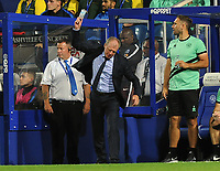 Football - 2018 / 2019 EFL Carabao Cup (League) Cup - Queens Park Rangers vs. Peterborough United<br /> <br /> A frustrated QPR Manager Steve McClaren sthrows a water bottle to the ground after a missed chance, at Loftus Road.<br /> <br /> COLORSPORT/ANDREW COWIE