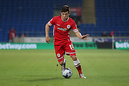 Declan John of Cardiff City. Capital One Cup, 3rd round match, Cardiff City v AFC Bournemouth at the Cardiff City stadium in Cardiff, South Wales on Tuesday 23rd Sept 2014<br /> pic by Mark Hawkins, Andrew Orchard sports photography.