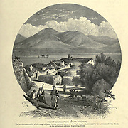 Engraving on Wood of Mount Gilboa from Sulem (Shunem or Shunem) from Picturesque Palestine, Sinai and Egypt by Wilson, Charles William, Sir, 1836-1905; Lane-Poole, Stanley, 1854-1931 Volume 2. Published in New York by D. Appleton in 1881-1884