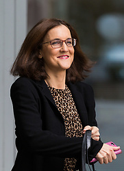 London, October 22 2017. Former Northern Ireland Secretary and staunch Brexiter Theresa Villiers MP after attending the Andrew Marr show at the BBC New Broadcasting House in London. © Paul Davey