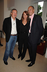 Left to right, NICK & NETTE MASON and DYLAN JONES at an evening with racing driver Lewis Hamilton held at The Hempel Hotel, 31-35 Craven Hill Gardens, London W2 on 4th July 2007.<br />