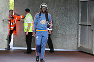 Marvin Emnes of Swansea city  arrives at the stadium before the match. Barclays Premier league match, Swansea city v Manchester city at the Liberty Stadium in Swansea, South Wales on Sunday 15th May 2016.<br /> pic by Andrew Orchard, Andrew Orchard sports photography.