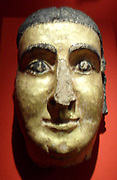 mask of a woman with cosmetic markings,. Roman 1st Century AD