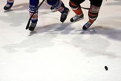 Simbol picture of ice hockey at ice hockey match Acroni Jesencie vs EC Pasut VSV in EBEL League,  on November 23, 2008 in Arena Podmezaklja, Jesenice, Slovenia. (Photo by Vid Ponikvar / Sportida)