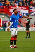 Rangers 2nd goal scorer Jermain Defoe during the Ladbrokes Scottish Premiership match between Hamilton Academical FC and Rangers at The Hope CBD Stadium, Hamilton, Scotland on 24 February 2019.
