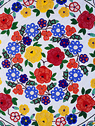 Exquisite Athabaskan floral design beadwork by Jeannie Stevens, Bettles, Alaska. (Please Note:  Licensing of this images requires an extra fee to be paid to beader Jeannie Stevens).