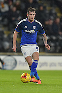 Joe Ralls of Cardiff City   during the Sky Bet Championship match between Hull City and Cardiff City at the KC Stadium, Kingston upon Hull, England on 13 January 2016. Photo by Ian Lyall.