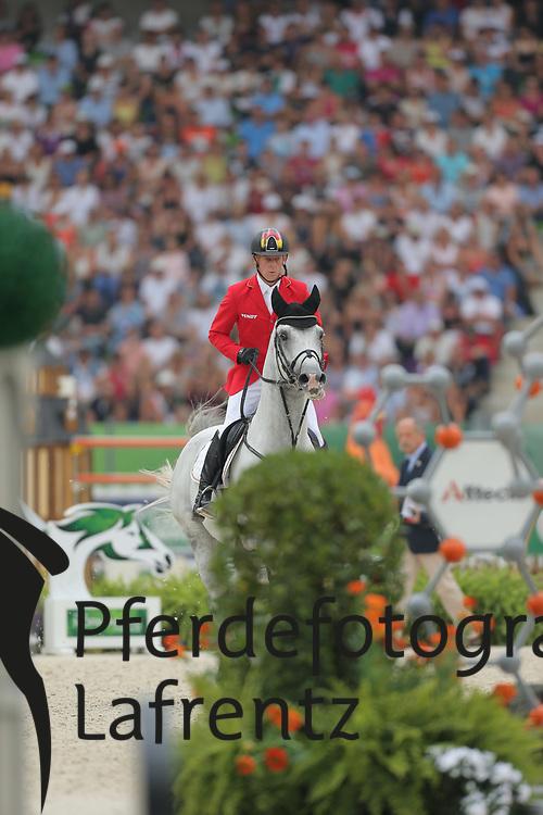 Ehning, Marcus, Cornado NRW<br /> Normandie - WEG 2014<br /> Springen - Finale III<br /> © www.sportfotos-lafrentz.de/ Stefan Lafrentz
