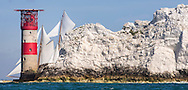 The Herreshoff  gaff schooner Eleonora competes in the JPMorgan Asset Management Round the Island Race. Isle of Wight.<br /> Picture date: Saturday June 27, 2015.<br /> Photograph by Christopher Ison ©<br /> 07544044177<br /> chris@christopherison.com<br /> www.christopherison.com