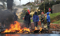 South Africa - Cape Town - 11 June 2020 - Residents of Hangberg protest after the City of Cape Town demolished houses during the storm thatengulfed the Western Cape. Photographer: Armand Hough/African News Agency(ANA)
