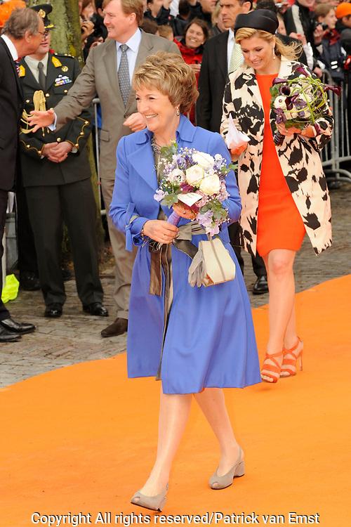 Koninginnedag 2010 . De Koninklijke familie in het zeeuwse  Middelburg. / Queensday 2010. De Royal Family in Middelburg.<br /> <br /> op de foto / on the photo: Prinses Margriet
