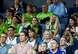 Mother, Grandmother and girlfriend of Luka Doncic of Slovenia as supporters of Slovenia during basketball match between National Teams of Finland and Slovenia at Day 3 of the FIBA EuroBasket 2017 at Hartwall Arena in Helsinki, Finland on September 2, 2017. Photo by Vid Ponikvar / Sportida