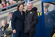 Wycombe Wanderers manager Gareth Ainsworth jokes with Oxford United during the EFL Sky Bet League 1 match between Oxford United and Wycombe Wanderers at the Kassam Stadium, Oxford, England on 30 March 2019.
