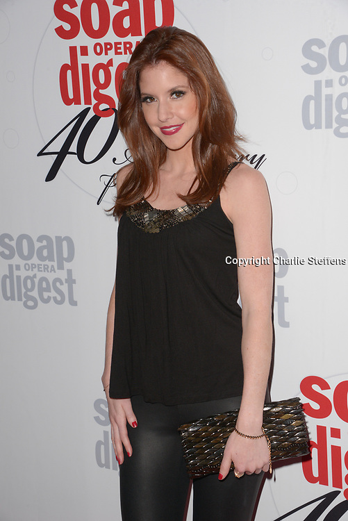 BRITTANY UNDERWOOD at Soap Opera Digest's 40th Anniversary party at The Argyle Hollywood in Los Angeles, California