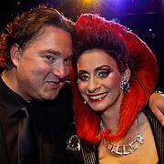 NLD/Utrecht/20100903 - Premiere Queen musical We Will Rock You, Erwin van Lambaart en Pia Douwes