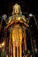 Mongolie, Oulan Bator, Monastere de Gandan (Gandantegchinlen Khiid), Statue d'Avalokitesvara // Mongolia, Ulan Bator, Gandan monastery (Gandantegchinlen Khiid), Statue of Avalokitesvara