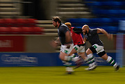 Newcastle Falcons players warm up before a Gallagher Premiership Round 12 Rugby Union match, Friday, Mar 05, 2021, in Eccles, United Kingdom. (Steve Flynn/Image of Sport)