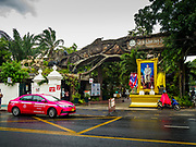17 AUGUST 2018 - BANGKOK, THAILAND:   The entrance to Dusit Zoo in Bangkok. The zoo opened in 1938. The zoo grounds were originally the Dusit Royal Garden. The zoo is scheduled to close by the end of August 2018 because it is being relocated to Nakhon Pathom province, south of Bangkok.     PHOTO BY JACK KURTZ