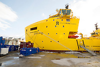 World Pearl fra World Wide Supply ligger i opplag i Ålesund under oljekrisen 2016.<br /> Foto: Svein Ove Ekornesvåg