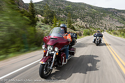Bob Mitchell of Madrid, IA and the Des Moines HOG Chapter on his 2016 Ultra Limited  riding from Thunder Mountain Harley-Davidson in Loveland, Colorado to the Rocky Mountain HOG Rally in Steamboat Springs. USA. Wednesday June 7, 2017. Photography ©2017 Michael Lichter.