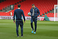 Football - 2016 / 2017 Premier League - AFC Bournemouth vs. Swansea City<br /> <br /> Fernando Llorente of Swansea City has a kick about on the pitch after getting off the coach at the Vitality Stadium (Dean Court) Bournemouth<br /> <br /> COLORSPORT/SHAUN BOGGUST