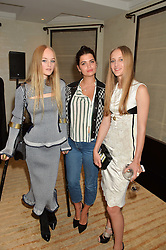 Left to right, JEAN CAMPBELL, PIXIE GELDOF and OLYMPIA CAMPBELL at the Louis Vuitton for Unicef Event #MAKEAPROMISE held at The Apartment, 17-20 New Bond Street, London on 14th January 2016.