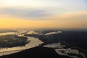 Nederland, Gelderland, Renkum, 10-01-2011;.Neder-Rijn bij Renkum met papierfabriek Schut. Lower-Rhine near Renkum with paper factory...luchtfoto (toeslag), aerial photo (additional fee required).foto/photo Siebe Swart