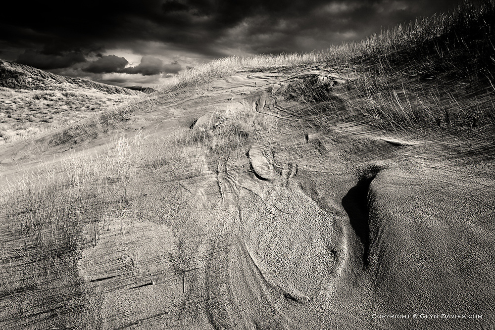 No.6 in this Wind Formed series dealing with the fantastic wind carvings in sand, notably at the Newborough sand dunes on Anglesey.