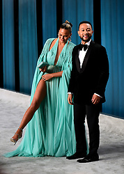 Chrissy Teigen and John Legend attending the Vanity Fair Oscar Party held at the Wallis Annenberg Center for the Performing Arts in Beverly Hills, Los Angeles, California, USA.