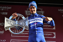 March 9, 2019 - Siena, Italia - Foto Gian Mattia D'Alberto / LaPresse.09-03-2019 Siena.Sportciclismo.Gara ciclistica Strade Bianche 2019 .nella foto: il vincitore Julian ALAPHLIPPPE (Fra, Deceuninck-QuickStep)..Photo Gian Mattia D'Alberto  / LaPresse.2019-03-09 SienaSportCycling.Strade Bianche 2019 .in the photo: the winner Julian ALAPHLIPPPE  (Credit Image: © Gian Mattia D'Alberto/Lapresse via ZUMA Press)