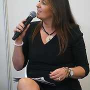 London, England, UK. 20th October 2017. Vegan Celebrity Hour host by Karin Ridgers at The First VegfestUK Trade at Olympia London, UK