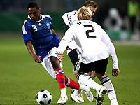 Fotball<br /> Frankrike<br /> Foto: DPPI/Digitalsport<br /> NORWAY ONLY<br /> <br /> FOOTBALL - EUROPEAN CHAMPIONSHIP UNDER 21 2009 - PLAY OFF FOR FINAL TOURNAMENT - GERMANY v FRANCE UNDER 21 - 10/10/2008 - CHARLES N ZOGBIA (FRA) / ANDREAS BECK (GER)<br /> <br /> Tyskland v Frankrike U21