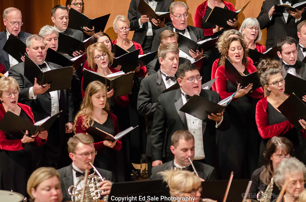The Oregon Repertory Singers and the Vancouver, Washington symphony perform a dress rehearsal.