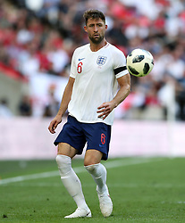 England's Gary Cahill during the International Friendly match at Wembley Stadium, London. PRESS ASSOCIATION Photo. Picture date: Saturday June 2, 2018. See PA story SOCCER England. Photo credit should read: Nick Potts/PA Wire. RESTRICTIONS: Use subject to FA restrictions. Editorial use only. Commercial use only with prior written consent of the FA. No editing except cropping.