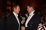Damian Lewis and Duncan Macpherson. Belle Epoche gala fundraising dinner. National Gallery. 16 March 2006. ONE TIME USE ONLY - DO NOT ARCHIVE  © Copyright Photograph by Dafydd Jones 66 Stockwell Park Rd. London SW9 0DA Tel 020 7733 0108 www.dafjones.com