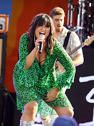 August 10, 2018 - New York City, New York, U.S. - Singer EMILY WARREN performs with 'The Chainsmokers' on 'Good Morning America' held in Central Park. (Credit Image: © Nancy Kaszerman via ZUMA Wire)