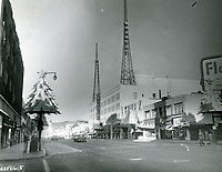 1956 Looking west on Hollywood Blvd. from Vine St.
