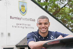 Falkirk's Taylor Morgan. Falkirk FC training for the Cup Final at Burnley's training ground.