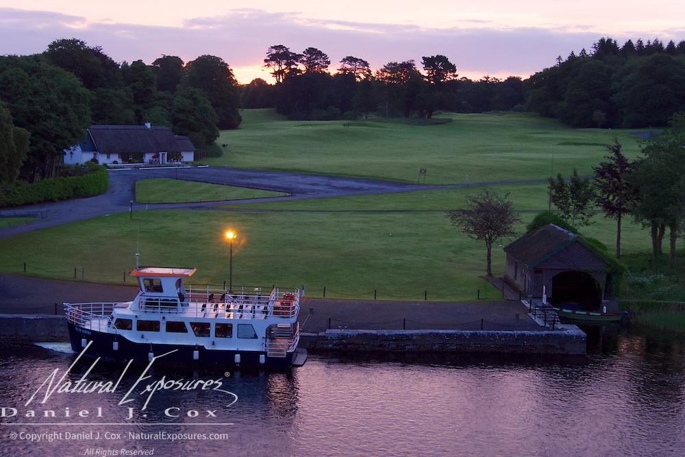 The boat at Ashford Castle, Ireland.