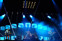 Muse performing in the final headline slot on the Main Stage at the 2017 Reading Festival. Photo date: Sunday, August 27, 2017. Photo credit should read: Richard Gray/EMPICS Entertainment