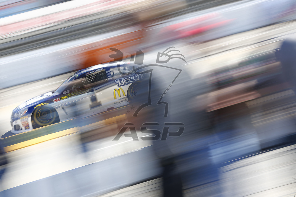 April 01, 2017 - Martinsville, Virginia , USA: The Monster Energy NASCAR Cup Series teams take to the track to practice for the STP 500 at Martinsville Speedway in Martinsville, Virginia .