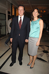 DAVID CAMERON MP and his wife SAMANTHA at a party to celebrate the 180th Anniversary of The Spectator magazine, held at the Hyatt Regency London - The Churchill, 30 Portman Square, London on 7th May 2008.<br /><br />NON EXCLUSIVE - WORLD RIGHTS