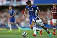 Diego Costa of Chelsea in action. Premier league match, Chelsea v West Ham United at Stamford Bridge in London on Monday 15th August 2016.<br /> pic by John Patrick Fletcher, Andrew Orchard sports photography.