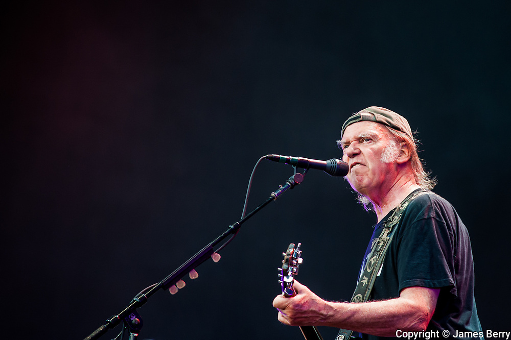 Neil Young and Crazy Horse headline British Summer Time, Hyde Park, London on Saturday 12 July 2014. Picture contains Neil Young.