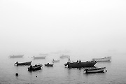 Fishermen prepare another day of work in a morning with intense fog on Tagus river<br /> Credit: Rodrigo Cabrita/4SEE