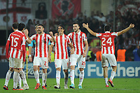FOOTBALL - UEFA CHAMPIONS LEAGUE 2012/2013 - GROUP STAGE - GROUP B - MONTPELLIER HSC v OLYMPIACOS - 24/10/2012 - PHOTO SYLVAIN THOMAS / DPPI - JOY OLYMPIACOS PLAYERS AFTER THE MATCH