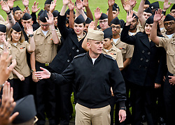 MERIDIAN, Miss. (May 5, 2017) Master Chief Petty Officer of the Navy Steven Giordano speaks to Sailors during an all-hands call in front of the Naval Technical Training Center (NTTC) at Naval Air Station Meridian, Miss. Giordano was the guest speaker at the NTTC Flag Writer Course's graduation ceremony. (U.S. Navy photo by Mass Communication Specialist 2nd Class Chris Liaghat/Released)170505-N-CH038-284<br /> Join the conversation:<br /> http://www.navy.mil/viewGallery.asp<br /> http://www.facebook.com/USNavy<br /> http://www.twitter.com/USNavy<br /> http://navylive.dodlive.mil<br /> http://pinterest.com<br /> https://plus.google.com