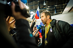 Veselin Vujovic during Reception of Slovenian National Handball team bronze medalist from Handball world cup in France, 29th January 2017,  Zagreb, Croatia. Photo by Grega Valancic / Sportida